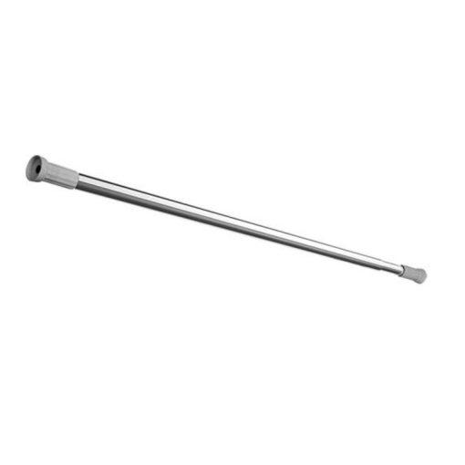 Bisk Nicesea 00037 125x220 cm/22 mm fényes króm rozsdamentes acél zuhanyfüggönytartó rúd