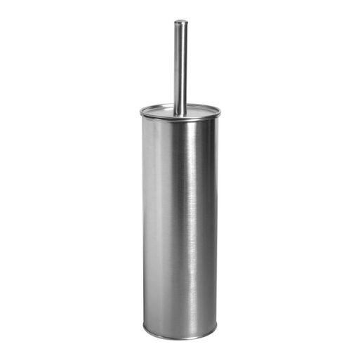 Bisk NIAGARA 00234 henger alakú matt rozsdamentes acél álló wc kefe tartóval