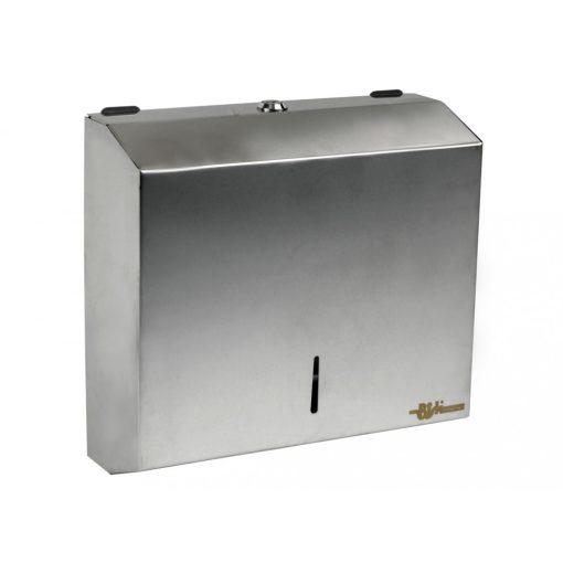 Bisk Masterline 00342 PL-S1 Z papír kéztörlő adagoló rozsdamentes acél mattkróm zárható