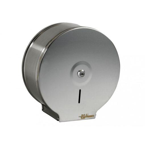 Bisk Masterline 00343 JUMBO S1 wc papír adagoló rozsdamentes acél mattkróm zárható