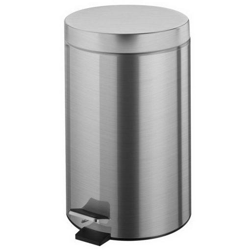 Bisk NIAGARA 00431 mattkróm 12 literes pedálos szemetes rozsdamentes acél