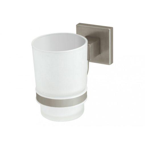 Bisk NORD 00574 matt króm üveg pohár tartóval