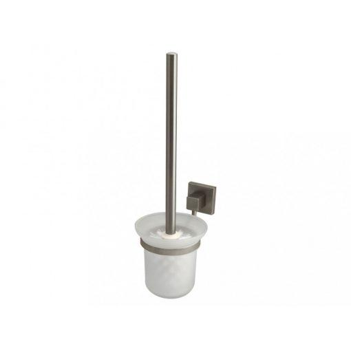 Bisk NORD 00584 matt króm WC kefe üveg tartóval