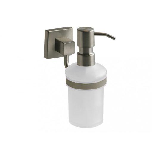 Bisk NORD 00585 matt króm folyékony szappan adagoló üveg betéttel