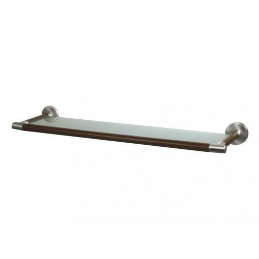 Bisk MADAGASKAR 00978 570 mm-es üveg piperepolc nikkel/fa