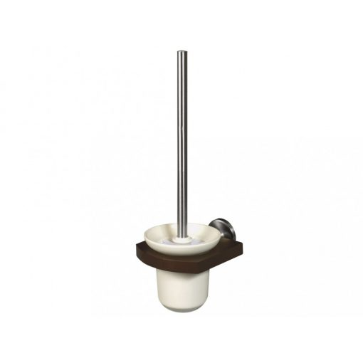 Bisk MADAGASKAR 00979 WC kefe szett kerámia tartóval nikkel/fa