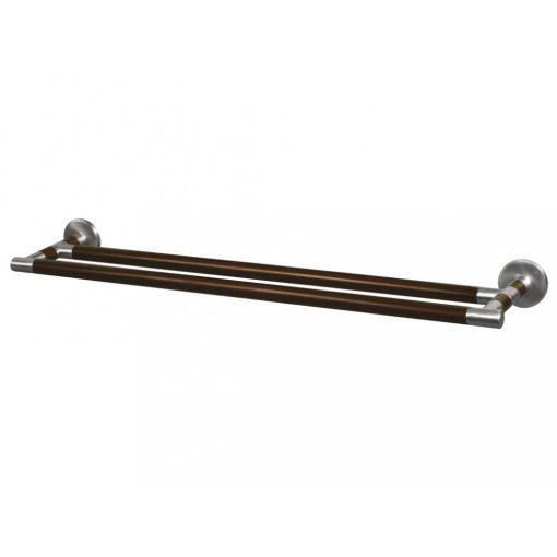 Bisk MADAGASKAR 00980 610 mm-es dupla törölközőtartó nikkel/fa