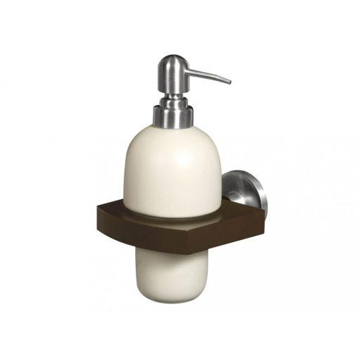 Bisk MADAGASKAR 00981 folyékony szappan adagoló kerámia betéttel nikkel/fa