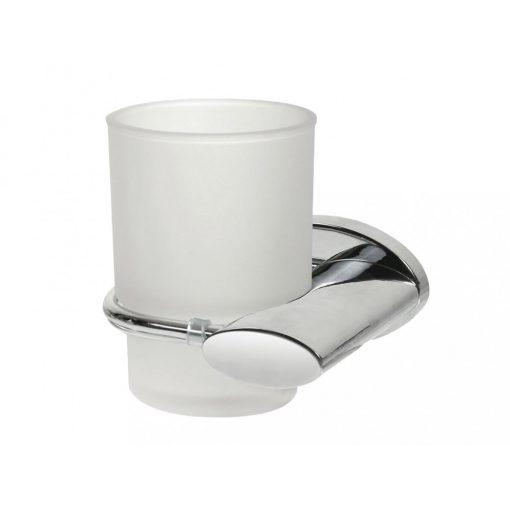 Bisk SIDE 00994 króm fogmosópohár és pohártartó