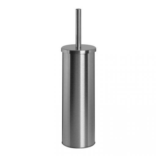 Bisk NIAGARA 01016 henger alakú matt rozsdamentes acél fali wc kefe tartóval