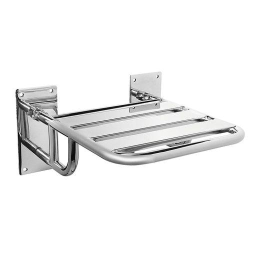 Bisk Masterline 01386 45x40 cm-es felhajtható zuhanyülőke rozsdamentes acélból
