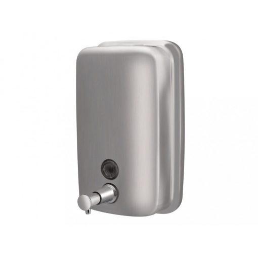 Bisk Masterline 01417 1000 ml-es fali folyékonyszappan adagoló rozsdamentes acélból