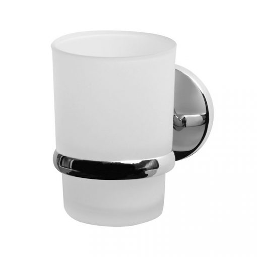 Bisk CHROMA 01426 króm pohár és pohártartó
