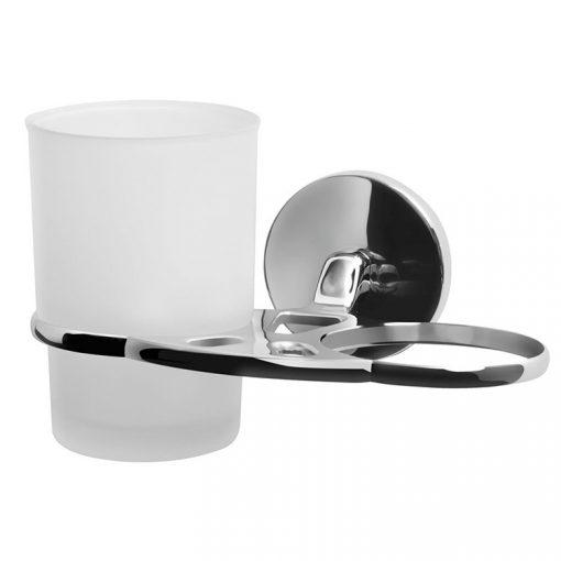 Bisk CHROMA 01427 króm dupla pohár és pohártartó