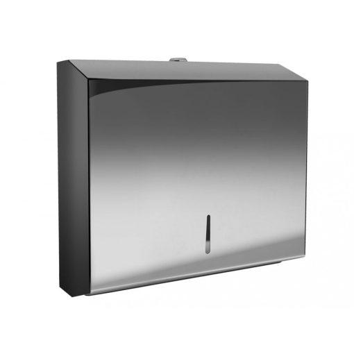 Bisk Masterline 01571 PL-S2 Z papír kéztörlő adagoló rozsdamentes acél fényes króm zárható