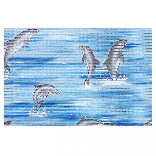 Bisk Nicesea 01617 Dolphin kék 50x80 habszőnyeg