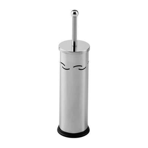 Bisk PROMO 02478 fényes króm henger alakú álló wc kefe tartó