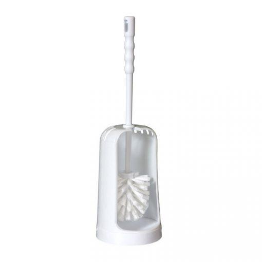 Bisk KUBA 02702 fehér álló wc kefe tartóval polipropylén