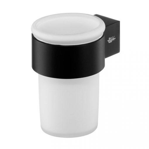 Bisk FUTURA BLACK 02959 fogmosópohár és pohártartó