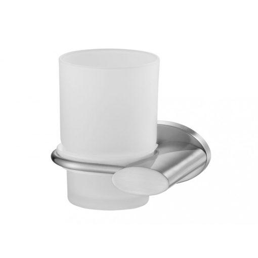 Bisk SIDE 03118 matt króm fogmosópohár és pohártartó