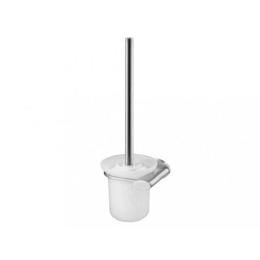 Bisk SIDE 03131 matt króm WC kefe üveg tartóval