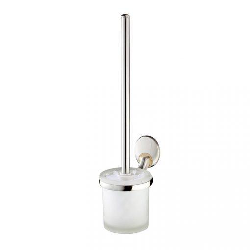 Bisk PASSION 03570 mattkróm fali wc kefe üveg tartóval cserélhető króm/arany betéttel