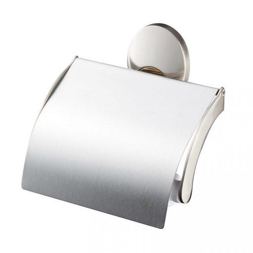 Bisk PASSION 03573 mattkróm fedeles wc papírtartó cserélhető króm/arany betéttel