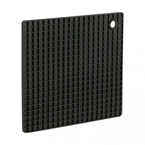 Bisk 4Kitchen 03746 Square konyhai szilikon alátét, fekete