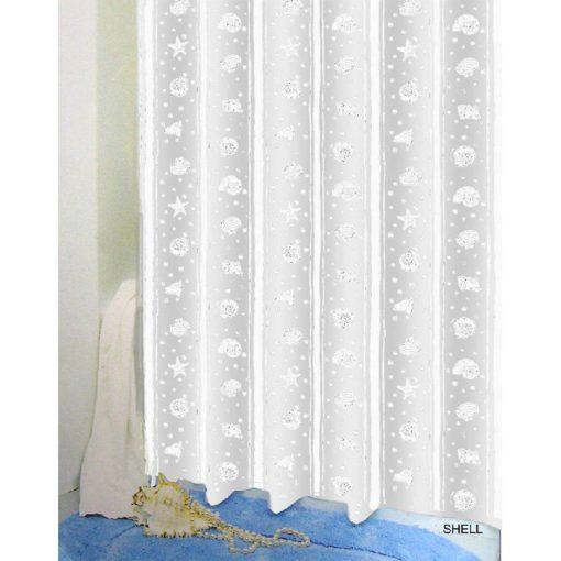 Bisk Nicesea 03802 Shell White 180x200 Peva zuhanyfüggöny fehér