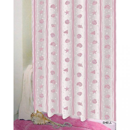 Bisk Nicesea 03808 Shell Pink 180x200 Peva zuhanyfüggöny rózsaszín