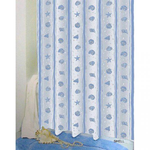 Bisk Nicesea 03810 Shell Blue 180x200 Peva zuhanyfüggöny kék