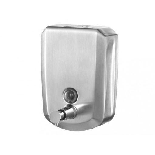 Bisk Masterline 04084 500 ml-es fali folyékonyszappan adagoló rozsdamentes acélból matt