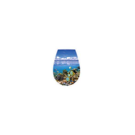 Bisk LILIA 04154 óceán mintás wc ülőke
