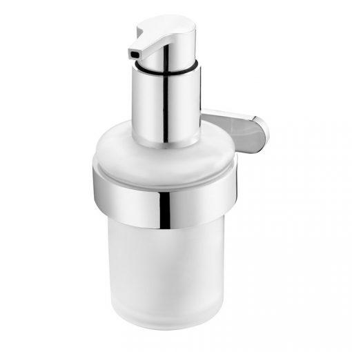 Bisk NATURA 04302 króm folyékonyszappan adagoló üvegbetéttel