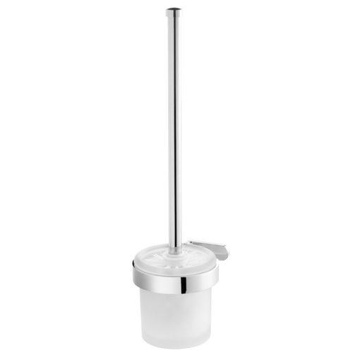 Bisk NATURA 04308 króm fali WC kefe üvegtartóval