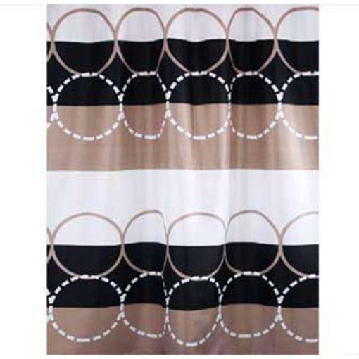 Bisk Nicesea 04438 Circle Multi 180x200 textil zuhanyfüggöny
