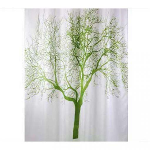 Bisk Nicesea 04439 Tree Green 180x200 textil zuhanyfüggöny