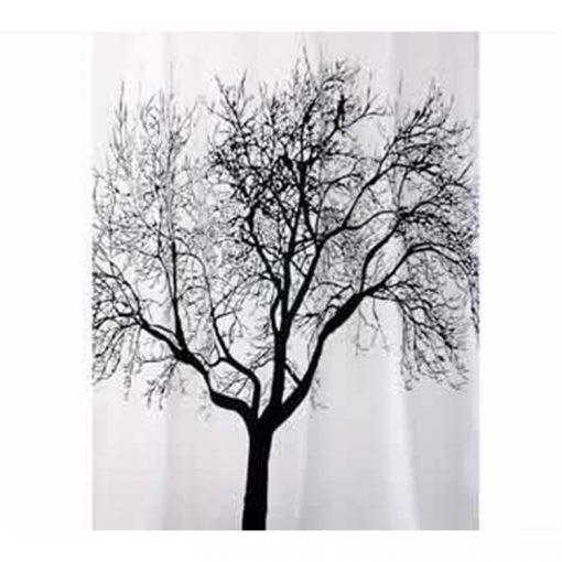 Bisk Nicesea 04440 Tree Blacck 180x200 textil zuhanyfüggöny