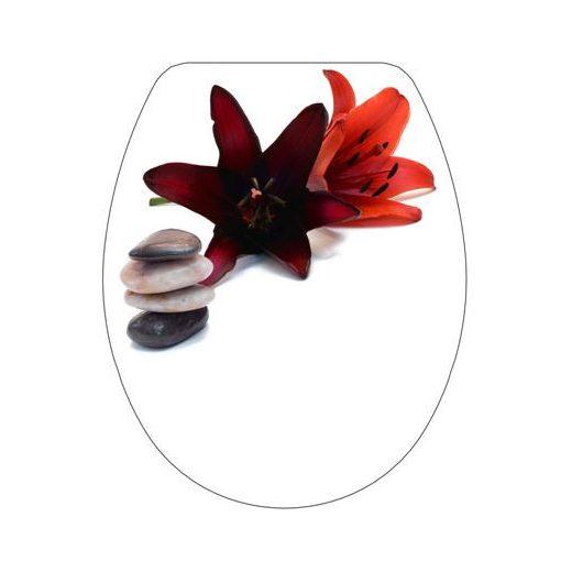 Bisk SNAIL 04501 virág mintás lecsapódásgátlós thermoplast  wc ülőke virág mintás