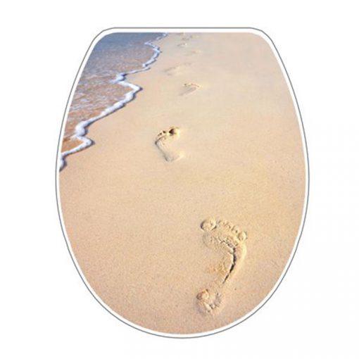 Bisk SNAIL 04503 tengerpartos lábnyom mintás lecsapódásgátlós thermoplast wc ülőke