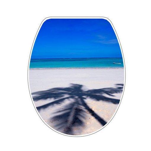 Bisk SNAIL 04504 pálmafa mintás lecsapódásgátlós thermoplast wc ülőke