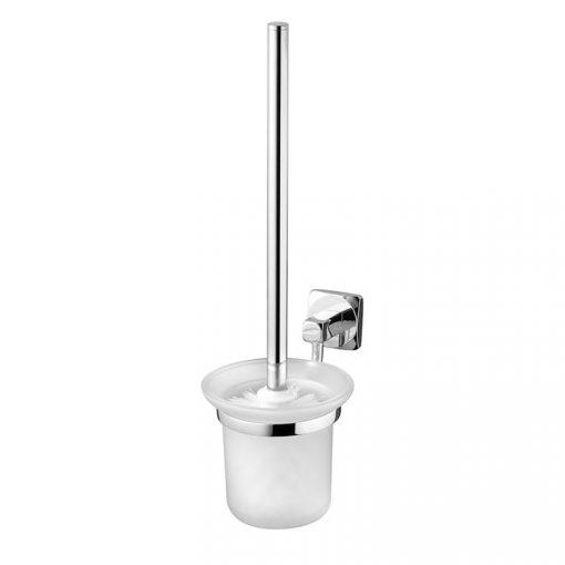 Bisk ICE 04855 króm WC kefe üveg tartóval