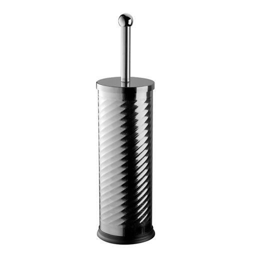 Bisk TWIST 04915 fényes króm henger alakú álló wc kefe tartó