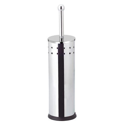 Bisk SQUARES 04917 fényes króm henger alakú álló wc kefe tartó