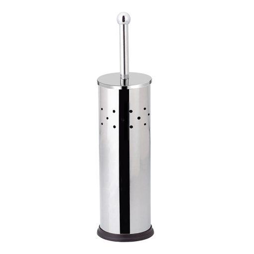 Bisk GAPS 04918 fényes króm henger alakú álló wc kefe tartó