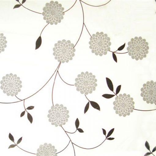 Bisk Nicesea 05164 Flowers Grey 180x200 Peva zuhanyfüggöny szürke