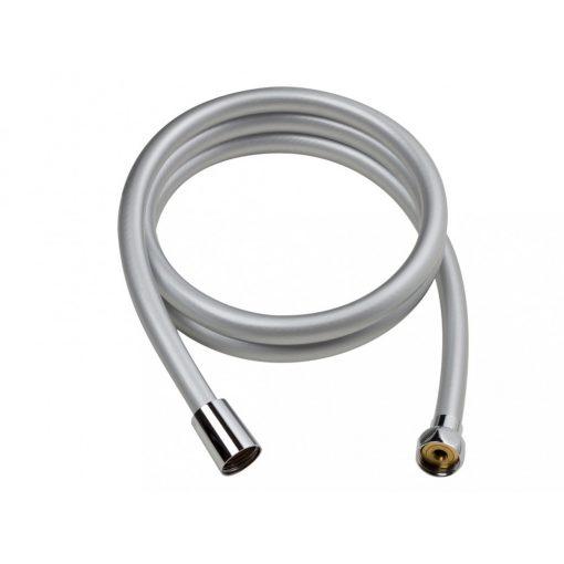 Bisk BASE 05368 PVC ezüst színű zuhanygégecső 150 cm