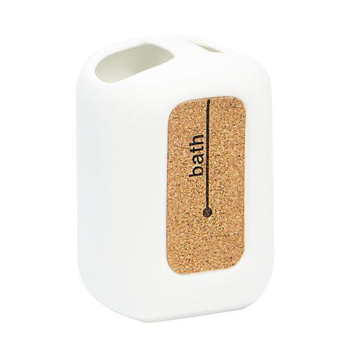 Bisk CORSA 05587 fogkefetartó pohár, fehér