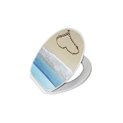 Bisk YUCCA 05833 tengerpartos szív mintás wc ülőke