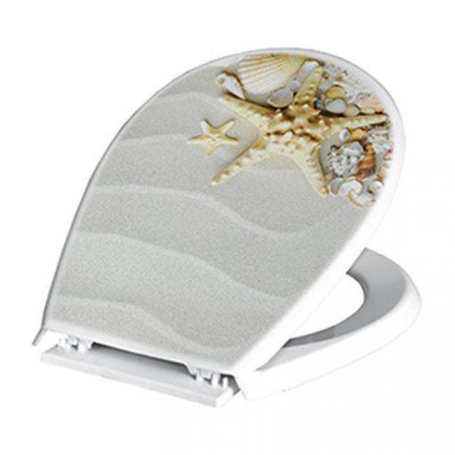 Bisk LILIA 05834 csillag-kagyló mintás wc ülőke polypropylén